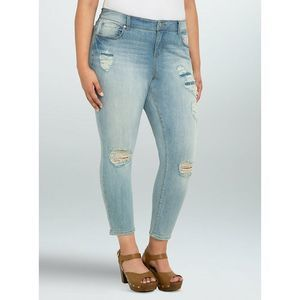 Torrid Girlfriend Jeans Size 12 Ripped Distressed